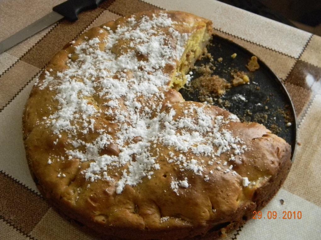 Рецепт шарлотки на сковородке
